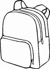 Backpack Clipart Coloring Pack Template Rucksack Printable Clipartion Inside Things Open sketch template