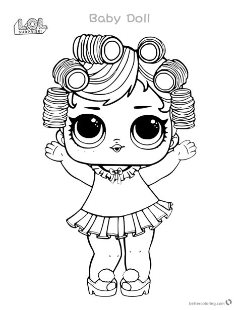 Babydoll from LOL Surprise Doll Coloring Pages Series 3
