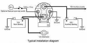 12v Smart Battery Isolator 150  Amps    75 Charge Rv
