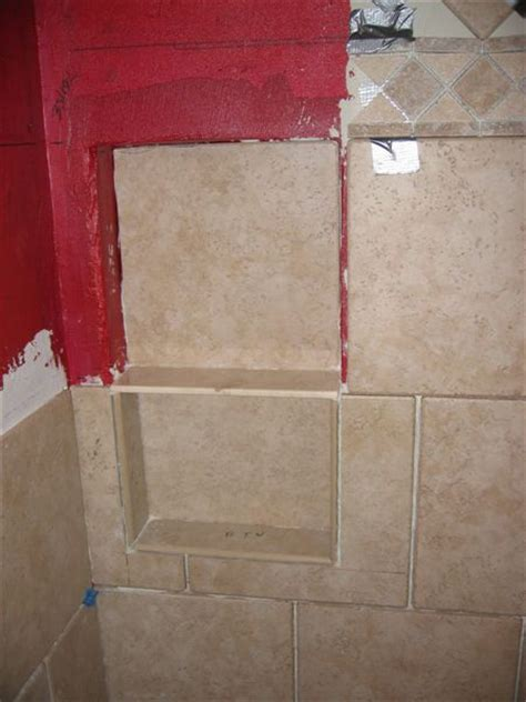 shower enclosure ceiling joint redguard and support