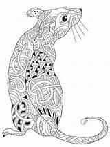 Coloring Pages Mouse Zentangle Adults Adult Printable Mycoloring Colors Teens sketch template