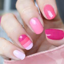 Pink nail designs tumblr step by for short