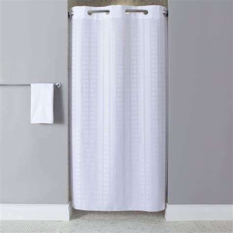 hookless shower curtain hookless hbh43lit01sx white stall size litchfield shower
