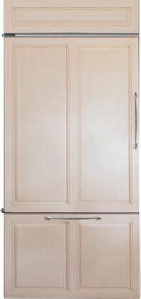 monogram zicnnlh   panel ready counter depth bottom freezer refrigerator  panel
