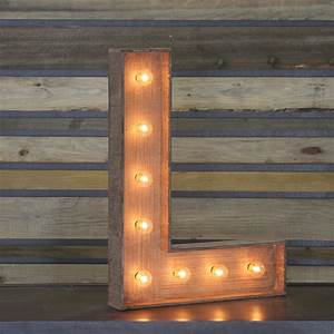 Edison Marquee Letter QuotLquot Town Country Event Rentals