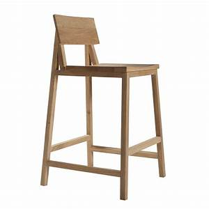 Diy Brown Natural Wood Bar Stool With Back And Wicker