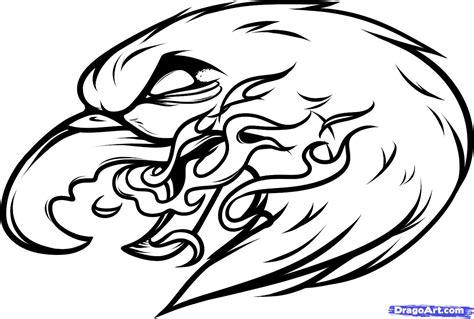 eagle  flame tattoo design
