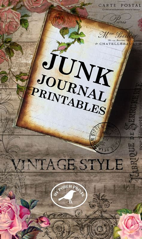 printables  junk journals scrapbooking card making