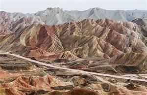 Zhangye Danxia National Geological Park, Rainbow Mountain ...