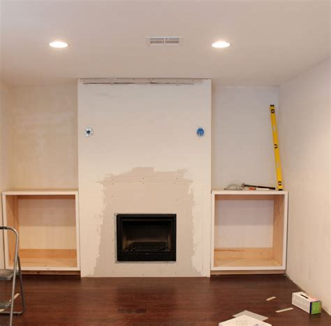 built in place built in shelves around fireplace for the home pinterest shelves around fireplace