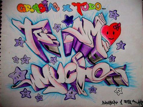 graffitis de te amo chidos imagui