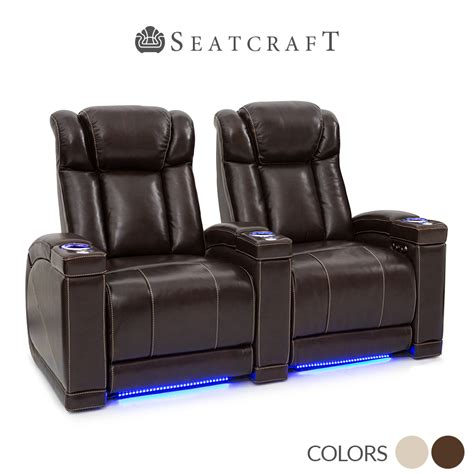 seatcraft leather home theater seating power