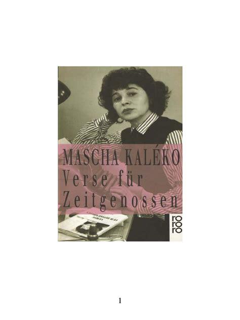 Mascha Kaléko - Verse für Zeitgenossen.pdf