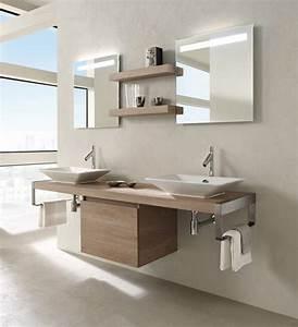 projet salle de bain hauteur plan vasque hauteur With salle de bain design avec vasque à poser jacob delafon