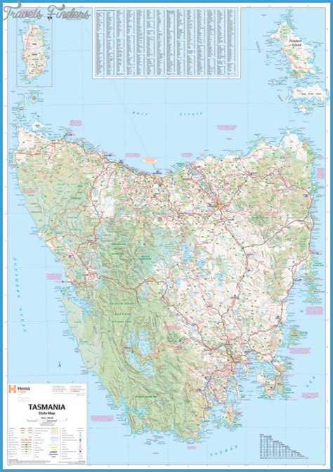 tasmania map travelsfinderscom