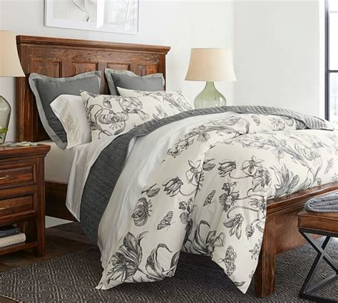 pottery barn duvet covers pippa floral print organic duvet cover sham pottery barn