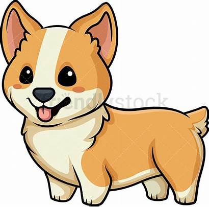 Corgi Kawaii Clipart Cartoon Vector Dog Animals