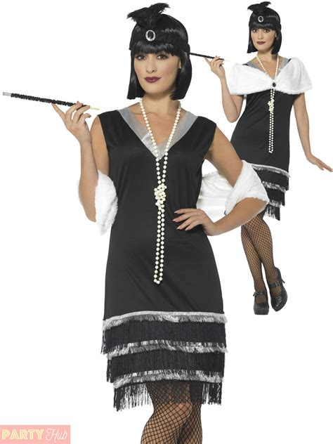 Ladies 1920s Flapper Costume Adults Charleston Fancy Dress Womens Gatsby Outfit | eBay