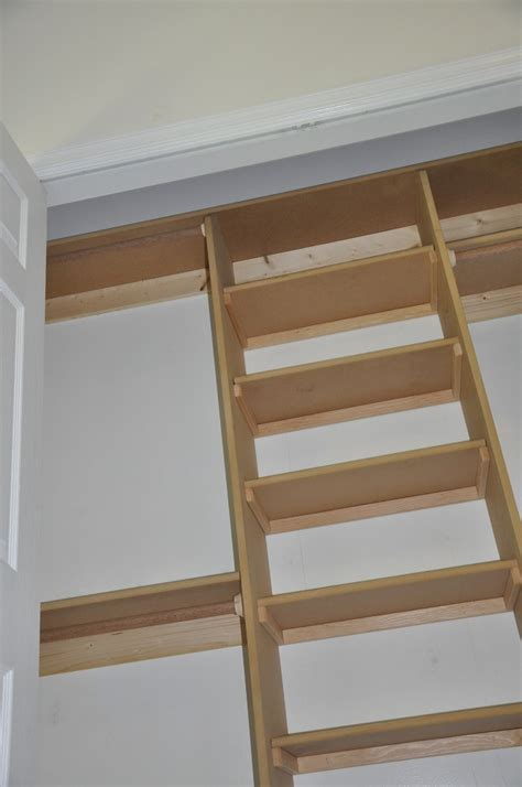 simple closet made with mdf