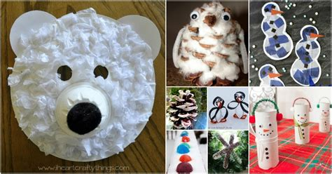 fun winter crafts    kids busy indoors
