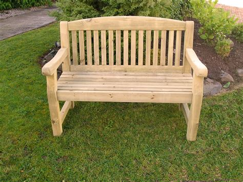 Solid Treated Wood Three Seater ' Garden Park Memorial