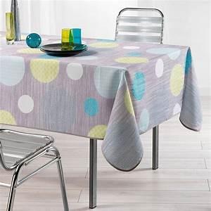Nappe De Table Rectangulaire : nappe rectangulaire l240 cm atolls anis nappe de table eminza ~ Teatrodelosmanantiales.com Idées de Décoration
