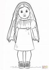 Coloring Doll Printable American sketch template