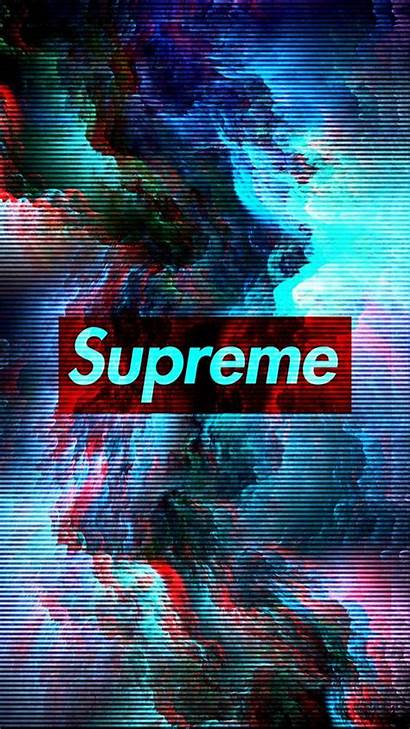 Supreme Wallpapers Glitch Neon Iphone 3d Mobile