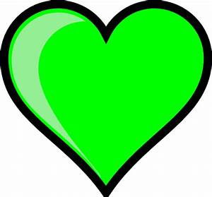 Neon Green Bubble Heart Clip Art at Clker.com