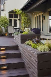 contemporary deck with raised beds by angela sarmiento