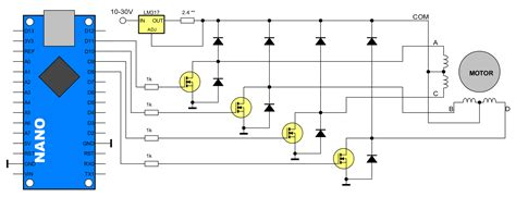 Unipolar Stepper Motors Arduino Code Driver One