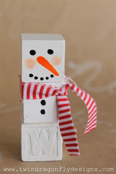 alphabet block snowman tutorial  create