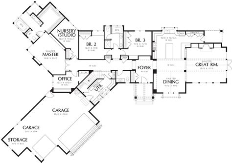 House Plans With Big Bedrooms by Auburn 6999 3 Bedrooms And 2 Baths The House Designers