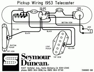 Wiring Diagram Squier Duo Sonic by Sch 233 Ma De Montage Cablage Pour Guitare Fender Telecaster 53