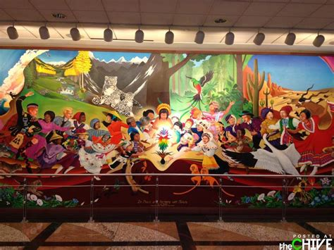 Denver International Airport Murals Artist Denver International Airport Bunker Are The Murals A Conspiracy Thechive