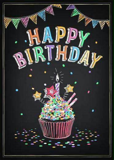 happy birthday chalkboard  angie stephens  happy