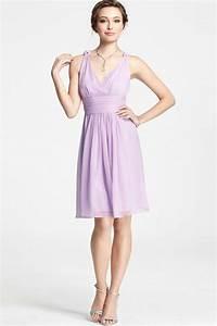 simple robe violet pastel decollete v pour mariage ete With robe couleur pastel pour mariage