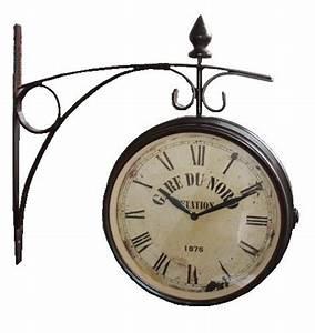 Horloge De Gare : vds lot horloge de gare double face destockage grossiste ~ Teatrodelosmanantiales.com Idées de Décoration