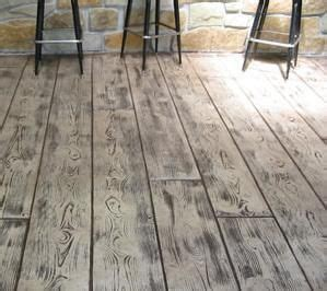concrete stamped    wood   beautiful patio