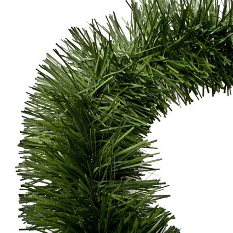 two tone green tinsel garland 3m x 75mm christmas time uk