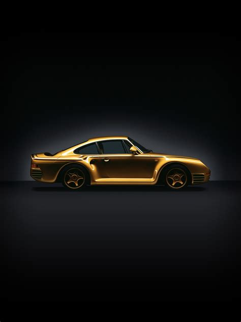cars porsche  exclusive gold plated ipad iphone hd