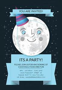 Cocktail Party Invitations Templates Free Full Moon Printable Party Invitation Template Free
