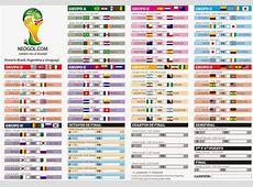 calendario mundial brasil 2014 Mundial Rusia 2018