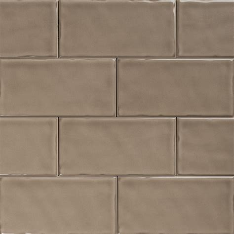 taupe tiles subway taupe gloss wall tiles 150 215 75 classico textured in stretcher bond design eco tile factory