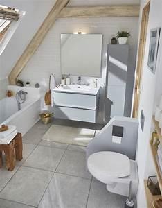 Deco Salle D Eau : 15 salles de bains grises elle d coration ~ Teatrodelosmanantiales.com Idées de Décoration