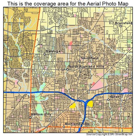 richland tx aerial photography map of north richland hills tx texas