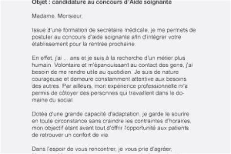 Lettre De Motivation Concours Infirmier Pour Aide Soignant