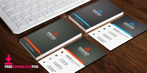 Free Visiting Cards Template Psd Business Card Case Plastic Green Cdr Creator Freeware Slitter Template Cutter Promotional Custom Holder Aluminum