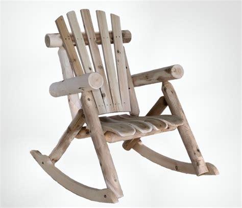 classic cedar log rocking chair