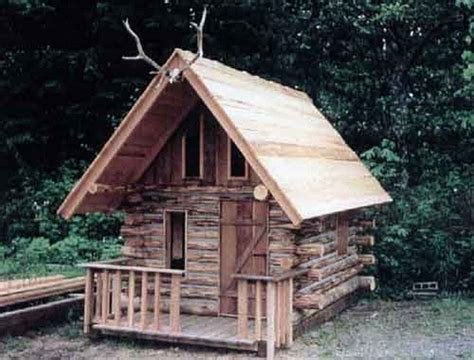 diy log cabin how to build a log cabin playhouse diy projects for